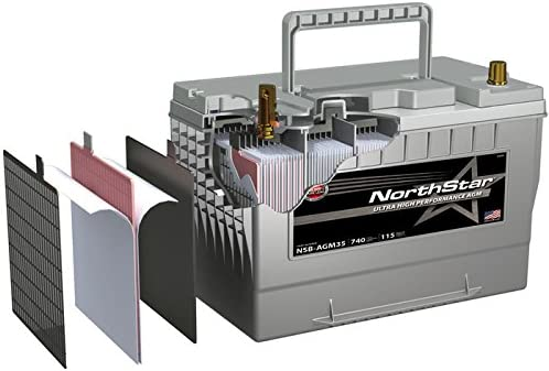NORTHSTAR Pure Lead Automotive Group 48 Battery NSB-AGM48