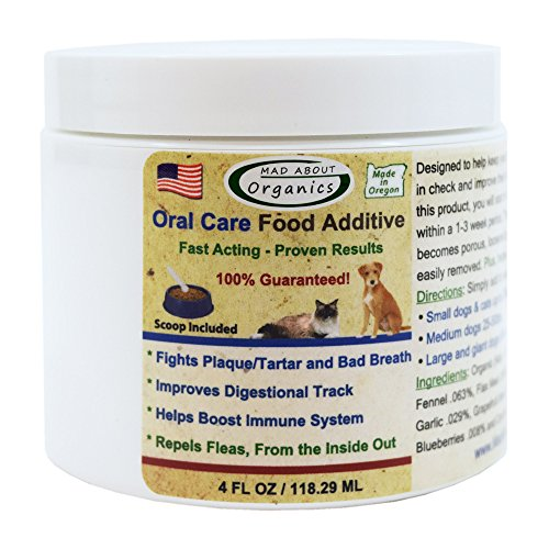 Cat Plaque - Mad About Organics All Natural Dog and Cat Oral Care Food Additive 4 ounces