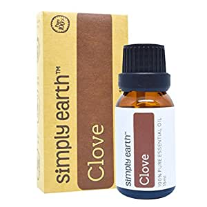 Clove Essential Oil (Leaf) by Simply Earth - 15 ml, 100% Pure Therapeutic Grade
