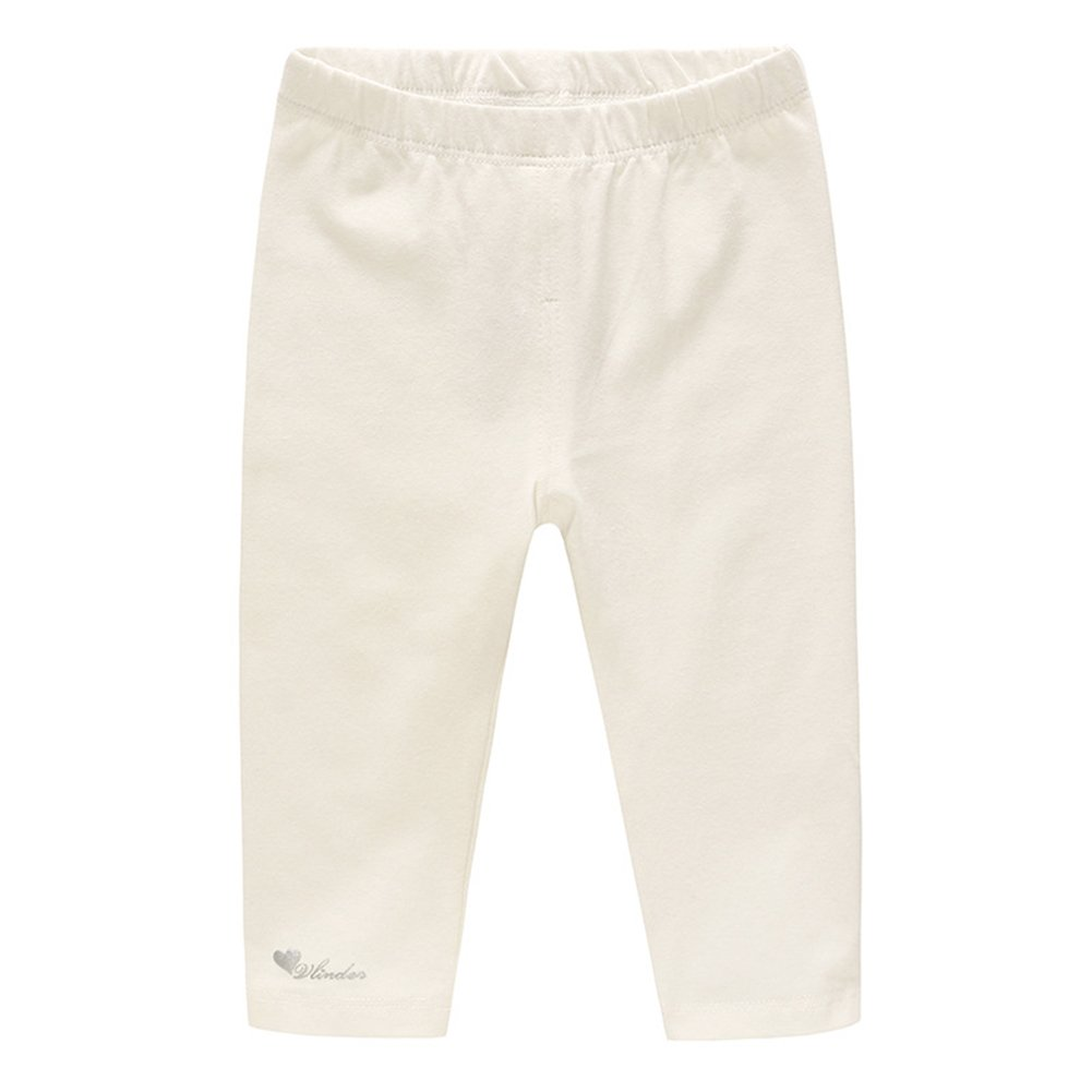 Fairy Baby Baby Girls Kids Cotton Leggings Comfort Footless Long Solid Pant Size 12-18M (White)