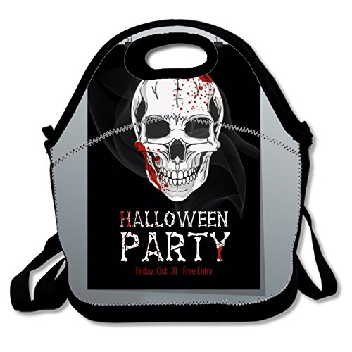 Lunch Box for Kids Polyester Lunch Tote for Women with Halloween Printable Flyer