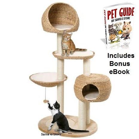 Gato árbol mediano Actividad Torre perfecto para gatos y gatitos para jugar, ocultar, Climb