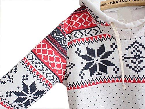 LHWY Weihnachten Schnee Hoodie Sweatshirt Pullover Pullover Kapuzen Pullover