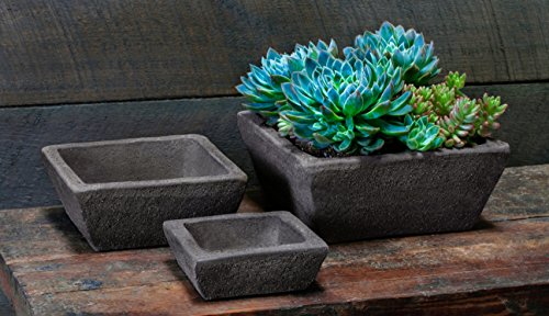 Campania International 3205-12806 Earth Square Planter, C...