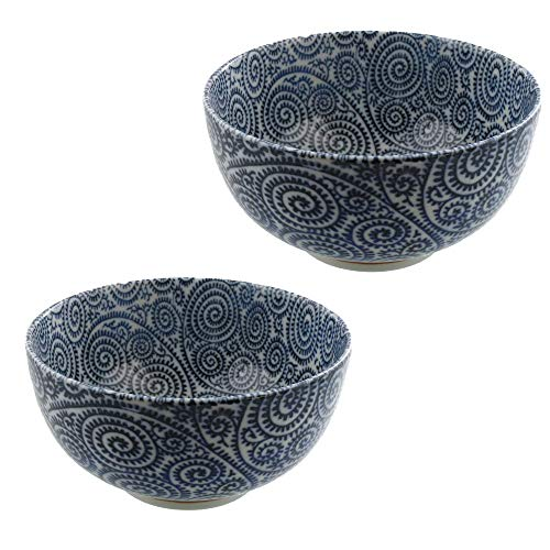 Zen Table Japan Blue Multi-Purpose Donburi Bowl Made in Japan Set of 2