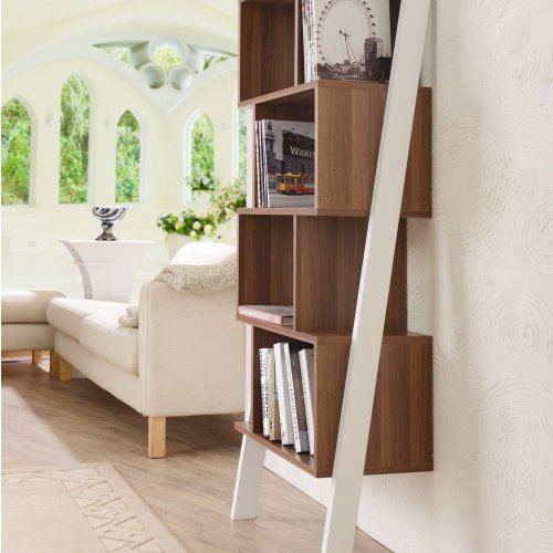 Cole Contemporary Leaning Tower Bookshelf Display Stand