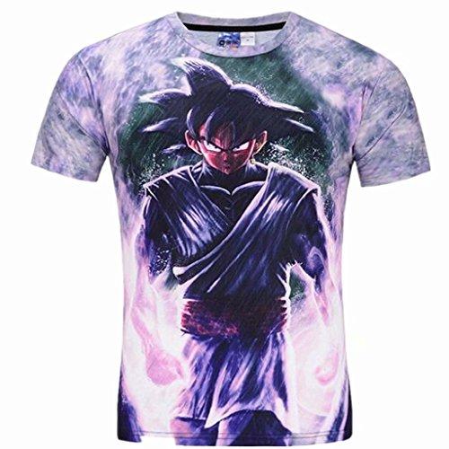 (Tsyllyp Youth Men and Big Boys Cartoon T Shirt 3D Printed Tops Short Sleeve Tee)