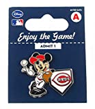 MLB Cincinnati Reds Disney Pin - Mickey Leaning on Home Base