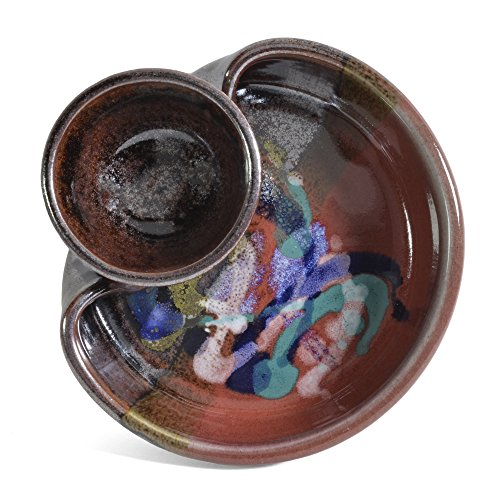 Larrabee Ceramics Shrimp and Dip Bowl, Red/Multi