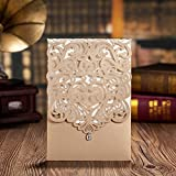 Doris Home wedding invitation cards wedding invitations kit wedding invitations laser cut 100pcs,CW5010