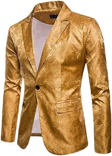 4b2056220c Floral Party Dress Men's Suit Casual Stylish Dinner Jacket Wedding Blazer  Prom Tuxedo