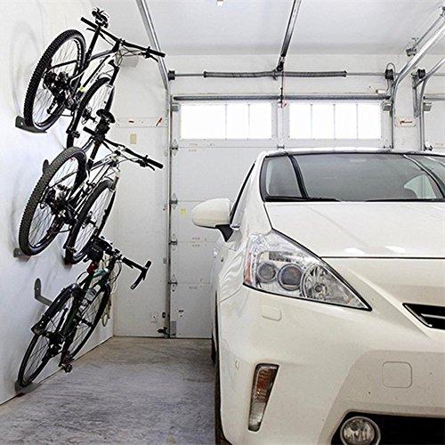 perg Transferencia 3 PC en la Pared Bicicleta Anclada Steht Acero de Apoyo Bike Ciclismo Pedal de neumáticos de Memoria de Colgar de Estructura: Amazon.es: ...