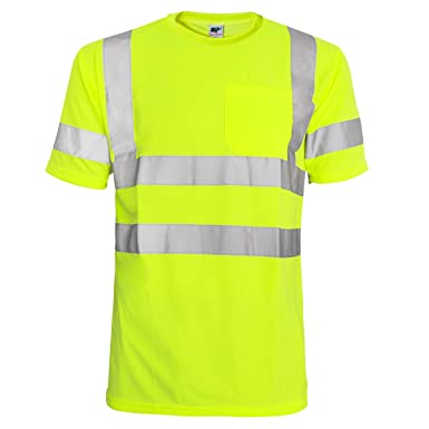 824990f69 Amazon.com  L M Hi Vis T Shirt ANSI Class 3 Reflective Safety Lime Orange  Short Long Sleeve HIGH Visibility  Clothing