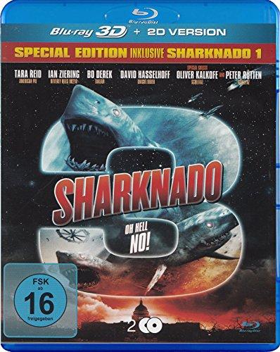 Sharknado 3 Oh Hell No! - Special Edition inkl. Sharknado 1 - 2 Blu-ray 3D & 2D Uncut [2 DVDs] [Alemania] [Blu-ray]