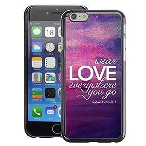 A-type Arte & diseño plástico duro Fundas Cover Cubre Hard Case Cover para Apple (4.7 inches!!!) iPhone 6 / 6S (Bubble Purple Yellow Lights Summer)