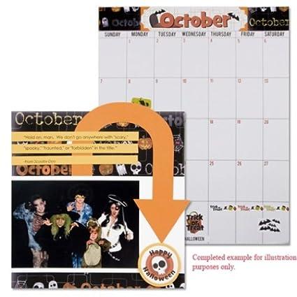 Karen Foster Design Memories and Messages Wall Calendar Grid Refill