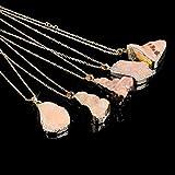 TR.OD Crystal Quartz Healing Necklace Gemstone Necklace Pendant Orange