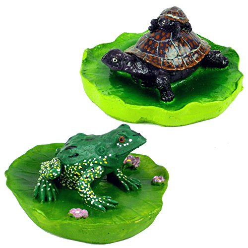 - 2-Piece Floating Pond Frog and Turtle