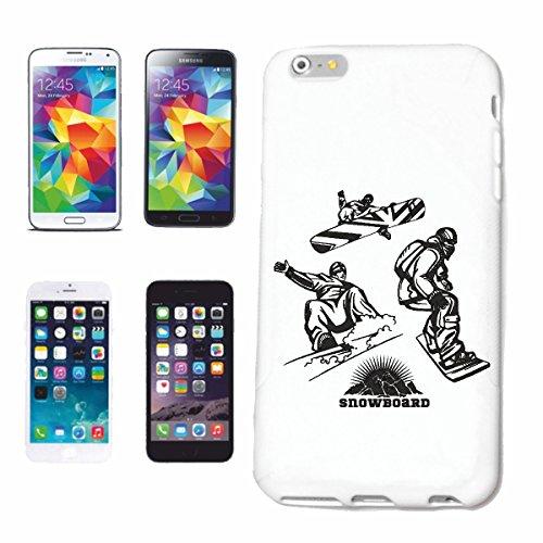 caja del teléfono iPhone 7S SILUETA ??Snowboard Snowboard RIDER SNOWBOARDER Deporte de invierno PIE Caso duro de la cubierta Teléfono Cubiertas cubierta para el Apple iPhone en blanco