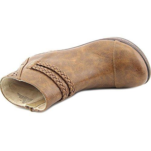 Jambu Kvinna Cabernet Brun Faux-läder Rund Tå Känga - 6,5 B (m) Oss