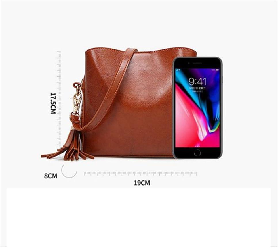 Sdcvopl Womens Handbag Lightweight Women Crossbody Travel Shoulder Messenger Purse Medium Multi Zipper Designer SatchelTassel Buckets Tote Handbag Color : Brown