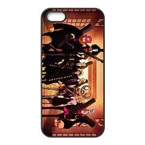 Héroes de dibujos animados K1R35 O9C6ZZ funda iPhone 5 5s funda caja del teléfono celular cubren II7XIN5OP negro