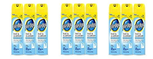 Pledge Dust and Allergen Furniture Spray 9.7 oz, 3 ct (3-(3 Pack)) by Pledge (Image #1)