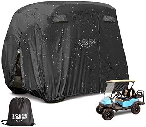 10L0L 4 Passenger Outdoor Golf Cart Cover,400D...