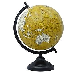 12 Rotating Ocean Globe Decorative Desktop Geography Earth Globes Table Decor