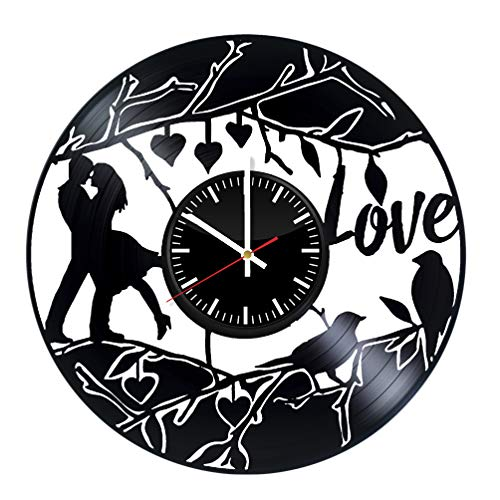 Gift for Lover Wedding Gift I Love You Vinyl Record Wall Clock – Unique Gift for Kids and Adults - Home Wall Decor for Any Space