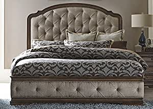 Amelia Panel Bed in Antique Toffee - Queen