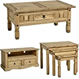 Mercers Furniture Corona 3-Piece Living Room Set - Brown