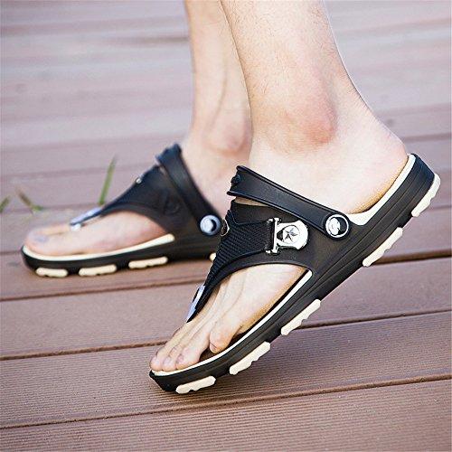 EU cinturino Sandali con Color uomo 43 Mens Dimensione cinturino alla posteriore Nero caviglia con shoes 2018 da wYqxBaY1