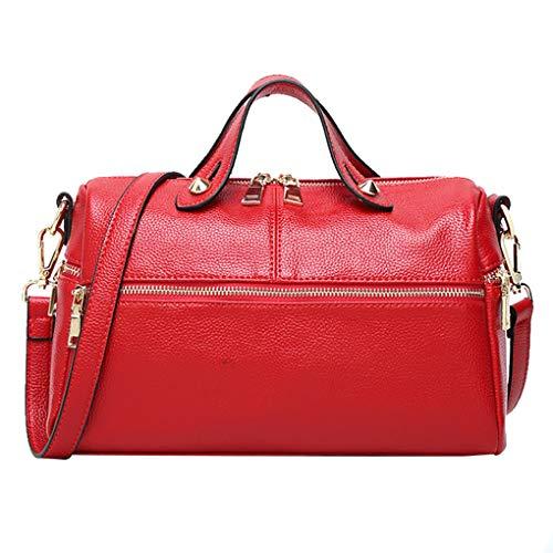 Republe Cuscino a forma di donne singola-spalla della borsa di colore solido PU Crossbody Messenger Bags Rosso