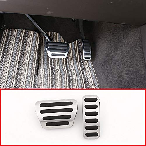 SODIAL For Discovery 5 Lr5 L462 No Drill Anti-Slip Fuel Brake Steel Pads Pedals Cover For Range Rover Sport 2014-2018