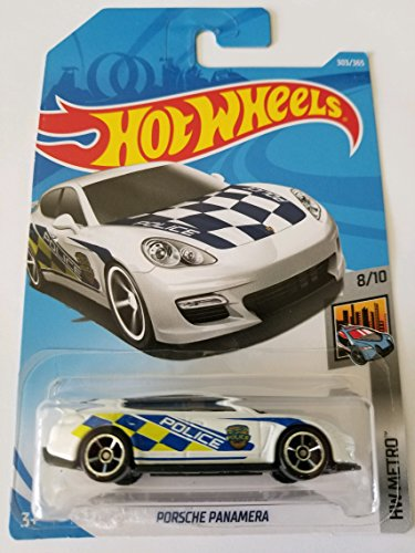 Hot Wheels 2018 Hw Metro 8/10 - Porsche Panamera (White - Police)