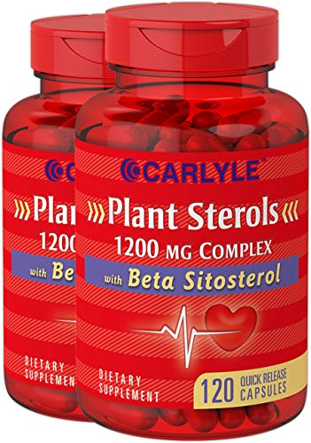 Plant Sterols 1200 mg | 240 Ultra Potent Capsules | Non-GMO and Gluten Free Supplement | with Beta Sitosterol | by Carlyle