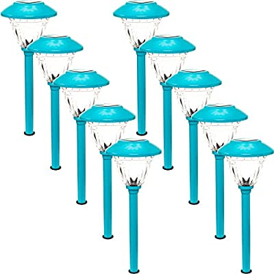 10 Pack Energizer Stainless Steel LED Solar Path Lights