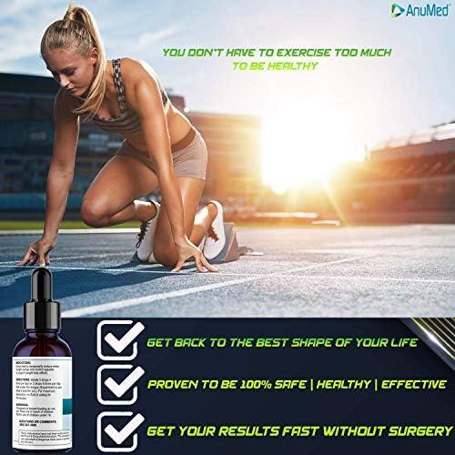 Anumed e-Drops Premium Fast Fat Burner   Metabolism & Energy Booster   Control Hunger   Super Fast Transformation   Healthy Weight Loss Drops   All Natural Vegan & Keto-Friendly for Women & Men (1oz) 4