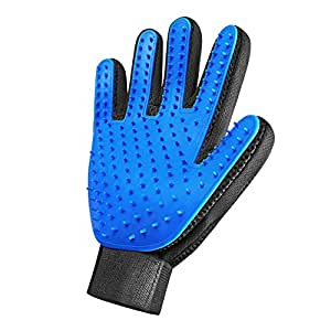 [Enhanced Edition] Pet Grooming Glove - for Dogs and Cats. Gentle Deshedding Brush, Massaging Tool, Efficient Pet Hair Remover, Perfect for Long & Short Fur. Pet Massage Glove, Deshedding Bath Brush.