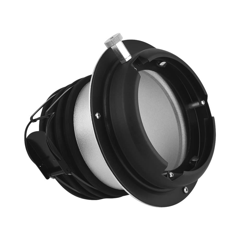 TOPTOO Adaptador de Adaptador de Anillo Profring a Bowens Mount para Flash de luz estrobosc/ópica de Estudio