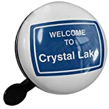 Small Bike Bell Sign Welcome To Crystal Lake - NEONBLOND