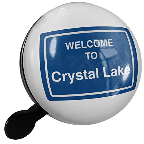 Small Bike Bell Sign Welcome To Crystal Lake - NEONBLOND by NEONBLOND