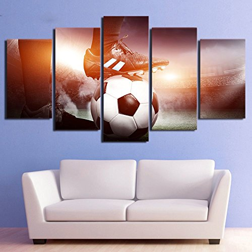 Abstract Canvas Painting Wall Art Canvas Painting 5 Piece Hd Print Football Game Framed Modular Posters And Prints Canvas Art Home Decor With Framed by Garth