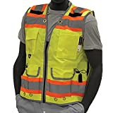 Majestic Glove 75-3235/X5 High Visy Duty Vest, Relief Pip, Insulated Pocket, Dot Stripes, 5X-Large, Orange