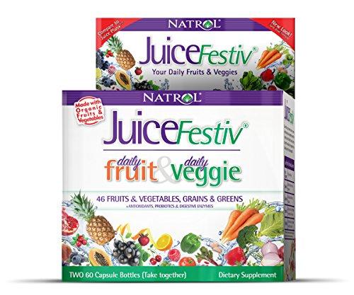 Natrol Juicefestiv Capsules FruitFestiv VeggieFestiv