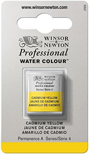 Winsor & Newton Acuarela Profesional con Media Pastilla, amarillo cadmio