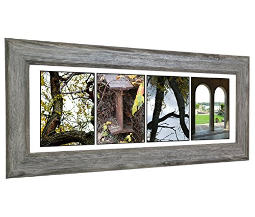 Personalized Baby Wall Art - Shelf Top or Wall Hanging Dcor for Newborn Baby Boy or Girl Created with Nature Related Alphabet Photographs - Exclusively By Creative Letter Art (Driftwood - Drift Frames