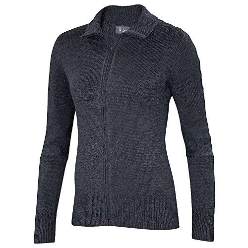 Ibex Chroma Full Zip Sweater - Women's Pewter Heather for sale  Delivered anywhere in USA