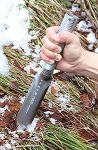 Deluxe acero inoxidable Hori Hori herramienta de jardinería de mango con funda de cuero–fabricado en Japón